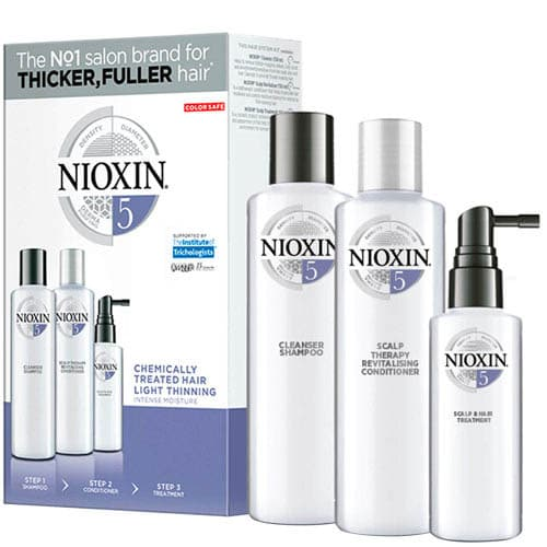 F1Aa8735Be065F04779De0Bcfb262F81 1 Nioxin System No 5 Trial Kit For Chemically Treated Hair With Light Thinning Splush Online